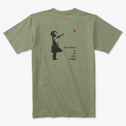 Banksy Boules Light Olive T-Shirt Back
