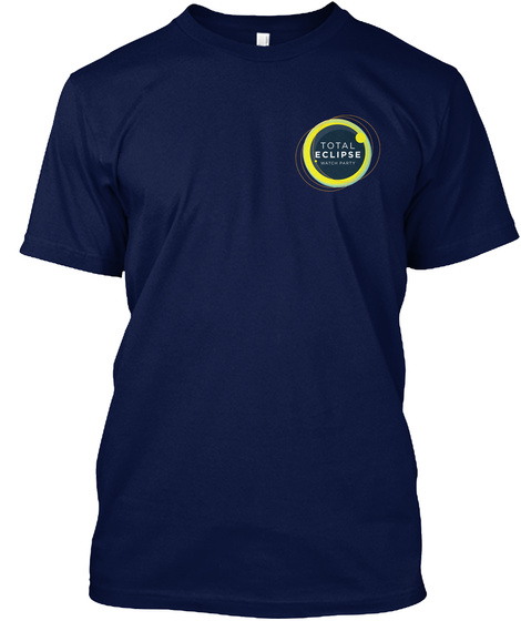 Total Eclipse Watch Party Navy T-Shirt Front