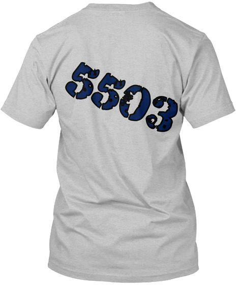 5503 Light Heather Grey  T-Shirt Back