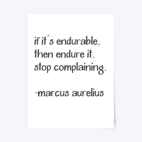 Marcus Aurelius Complaining Poster Standard áo T-Shirt Front