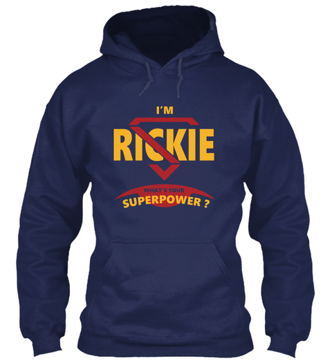 Rickie Navy T-Shirt Front