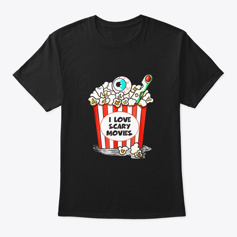 Horror Movies Lover Shirt Funny Black T-Shirt Front