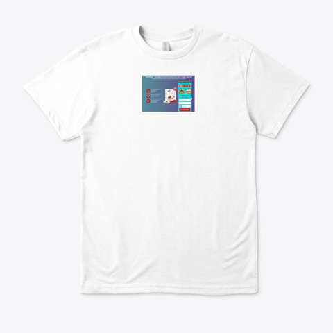 Heart Keep Tabletas White T-Shirt Front