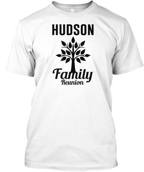 Hudson Family Reunion White Camiseta Front