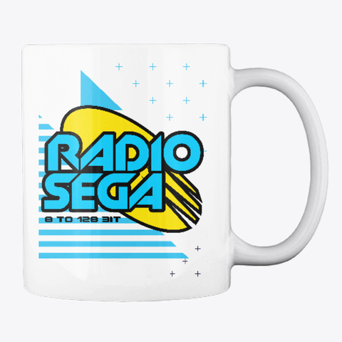 Radio Sega (2019) White T-Shirt Back