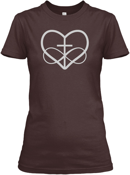 Poly And Christian   Polyamory Tees Dark Chocolate  T-Shirt Front