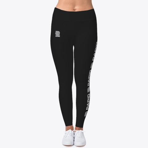 Rapid Strides Fitness Leggings Multi  Black T-Shirt Front