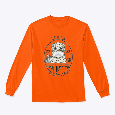 Cspca 2020 Safety Orange T-Shirt Front