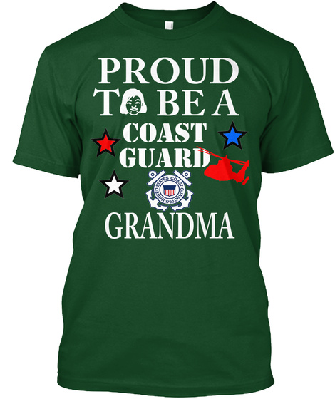 Cg Proud Grandma Deep Forest T-Shirt Front