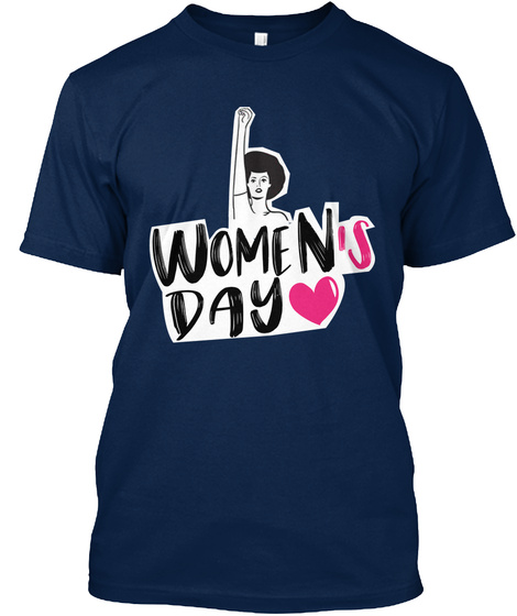 International Women's Day 2018 Shirt(Eu) Navy T-Shirt Front