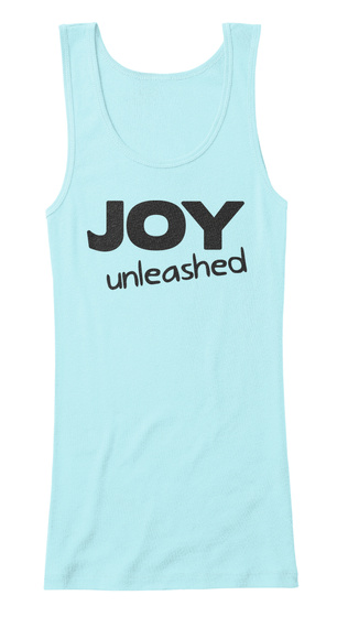 Joy Unleashed Light Aqua  Women's Tank Top Front