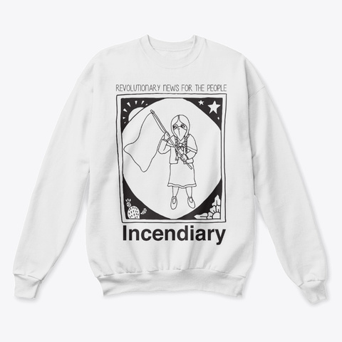 Incendiary Crew Neck White  T-Shirt Front