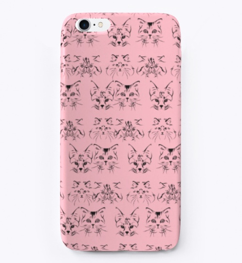 Cate Face Pattern Phone Cases In Usa Pink T-Shirt Front