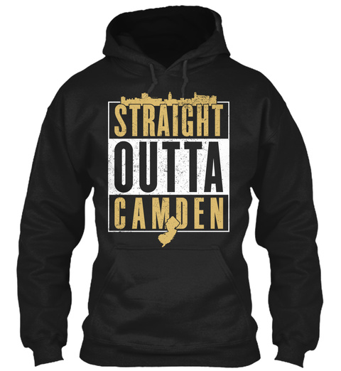 Straight Outta Camden  Black T-Shirt Front