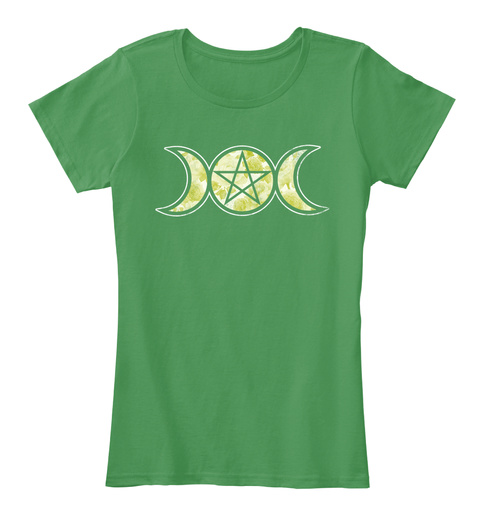 Triple Goddess Kelly Green  T-Shirt Front