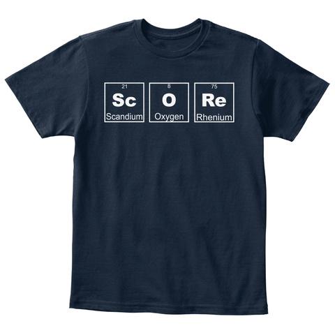 Sc Scandium O Oxygen Re Rhenium New Navy T-Shirt Front