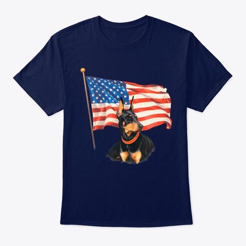 Veteran Shirt Navy T-Shirt Front