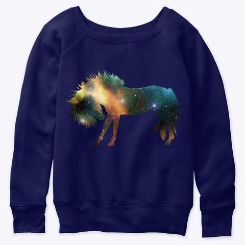 Horse Art Galaxy Navy  T-Shirt Front