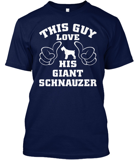 Giant Schnauzer Navy T-Shirt Front