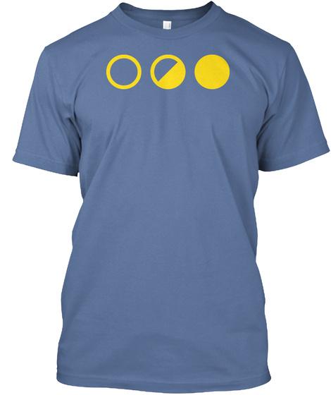 Binary Split Denim Blue Maglietta Front