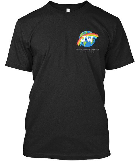 Lgbt, Comedy &Amp; Travel Blog Tee Black T-Shirt Front