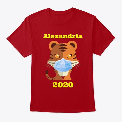 Alexandria 2020 Deep Red T-Shirt Front
