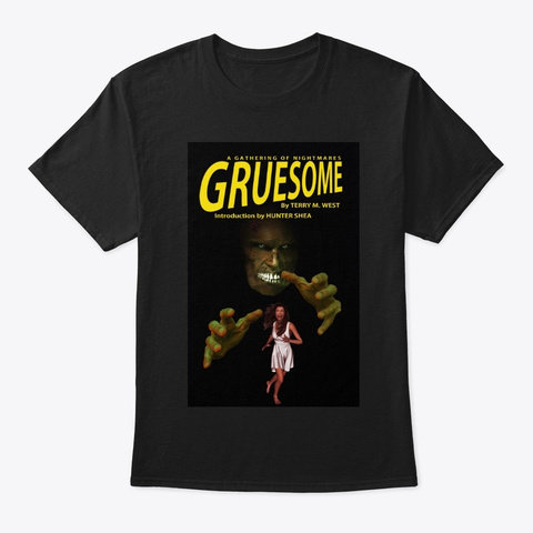 Gruesome Book Cover Tee Black T-Shirt Front