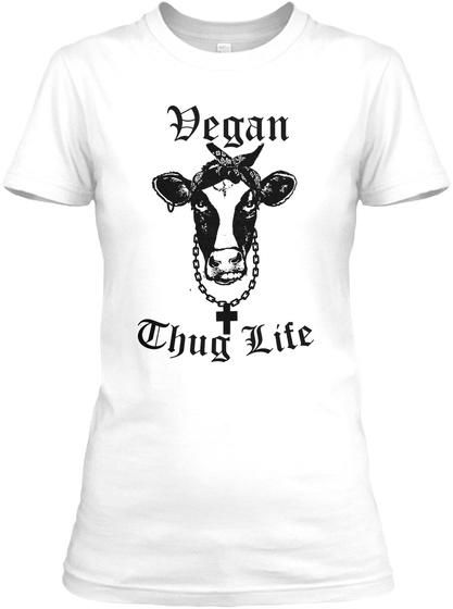 Vegan Chug Life White T-Shirt Front