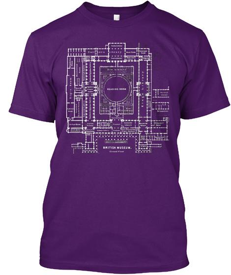 Elgin Plan, London Version. Purple T-Shirt Front