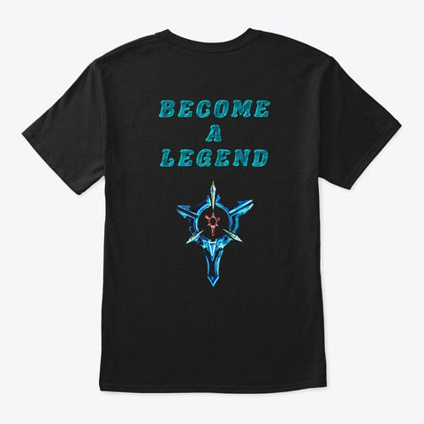 Lol Precision 1 Black T-Shirt Back