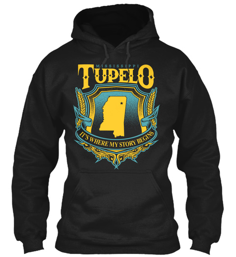 Mississippi Tupelo It's Where Story Begins Black T-Shirt Front