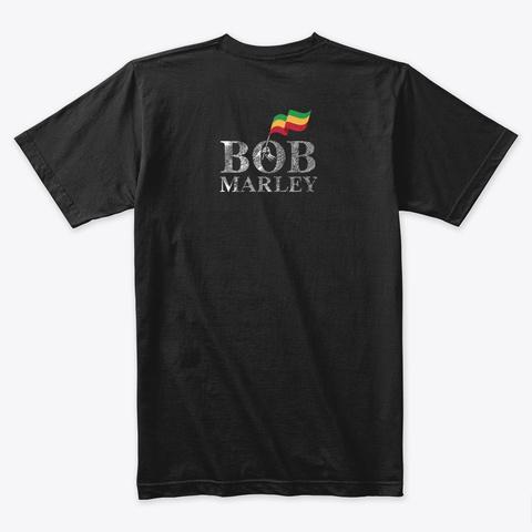 Portrait Of Bob Rastaman Black T-Shirt Back