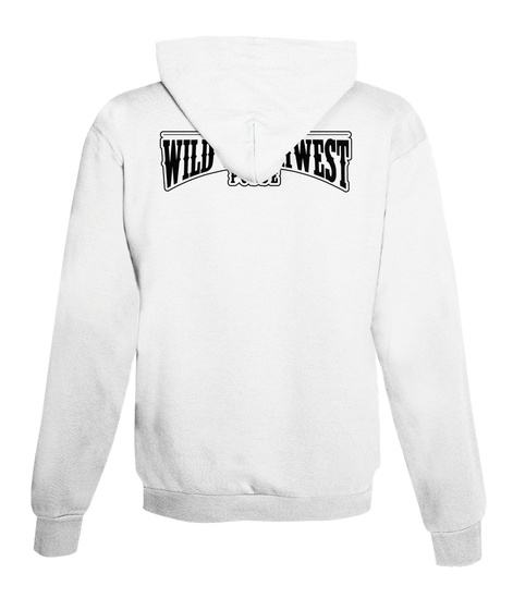 Wild South West Zip Up Hoodie Arctic White T-Shirt Back