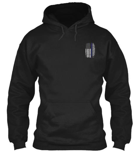 Thin Blue Line Usa Black T-Shirt Front