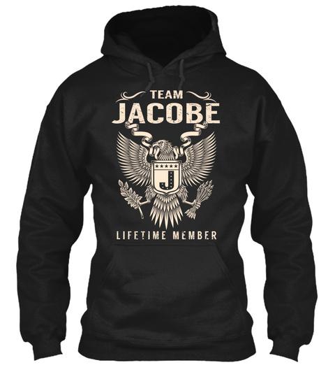 Team Jacobe Lifetime Member Black T-Shirt Front