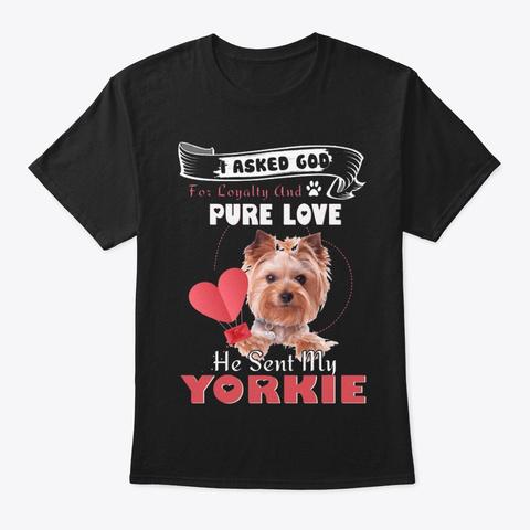 Yorkie Purelove Black T-Shirt Front