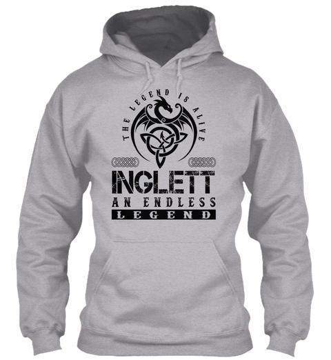 Inglett   Legends Alive Sport Grey T-Shirt Front