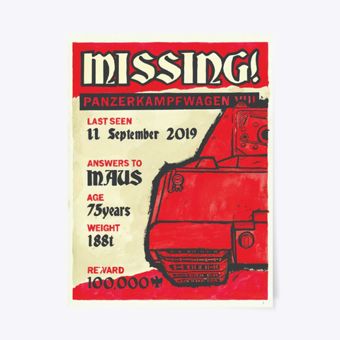 Rip Maus Small Poster Standard T-Shirt Front