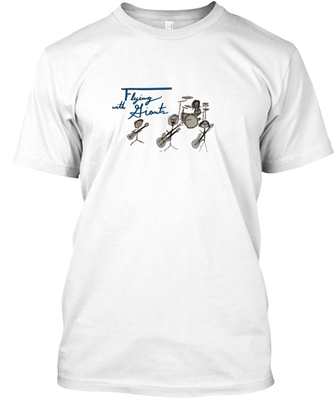 Flying With Jiants White T-Shirt Front