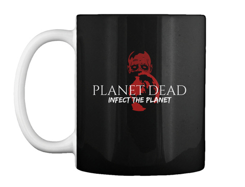 Planet Dead Coffee Time Black T-Shirt Front