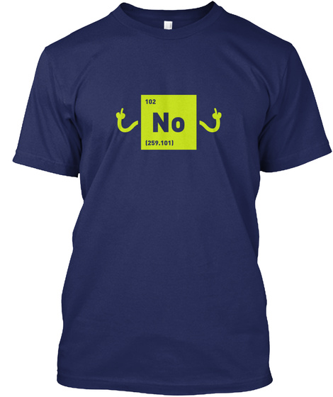 No [Usa] #Sfsf Midnight Navy T-Shirt Front