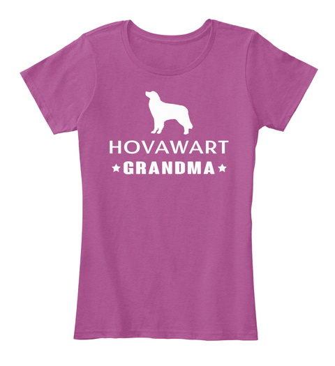 Hovawart Heathered Pink Raspberry T-Shirt Front