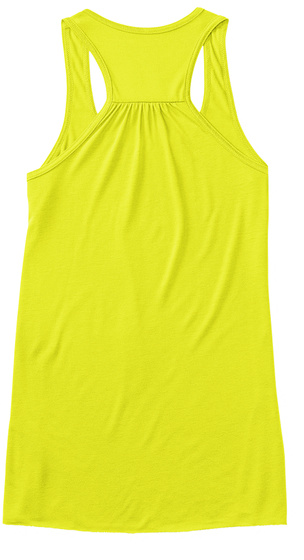 Caffeine, Chaos And Cuss Words Neon Yellow Women's Tank Top Back