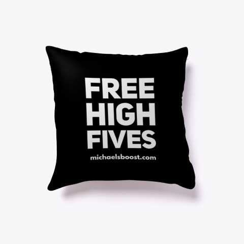 Free High Fives Black T-Shirt Front