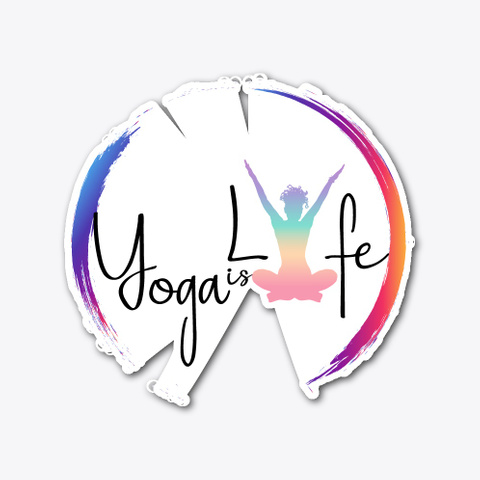 Yoga Is Lyfe Sitting Pose Standard T-Shirt Front