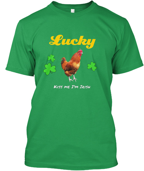 Lucky Kiss Me I'm Irish Kelly Green T-Shirt Front