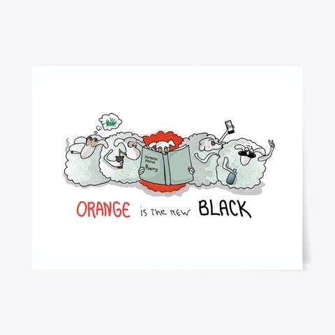 Orange I Is The New Black  Art Sheep Standard T-Shirt Front