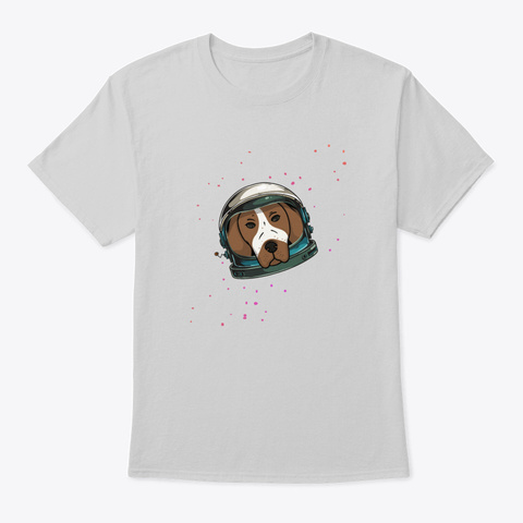 German Pointer In Space Helmet Stars Gi Light Steel T-Shirt Front