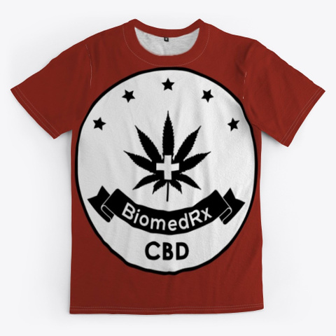 Biomed Rx Cbd Dark Red T-Shirt Front