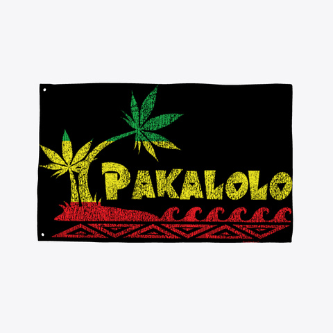 Pakalolo Flag Black T-Shirt Front